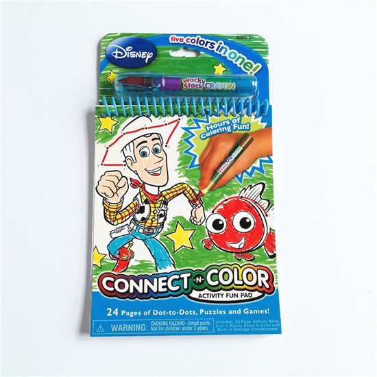 Colouring Book with Crayon